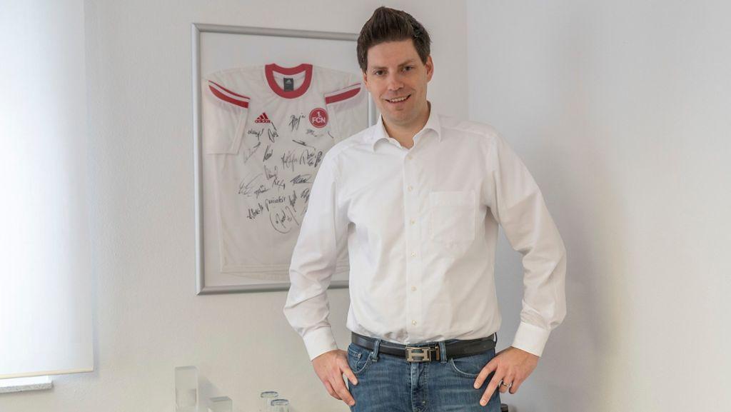 Leidgeprüfter Präsident der Wirtschaftsjunioren: Andreas Herlitz ist Club-Fan. Foto: Andreas Harbach